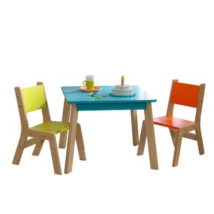 Modern Kids 3 Piece Writing Table And Chair Set