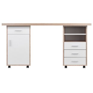 Midway 3 Piece Desk Office Suite by Ebern Designs Bargain