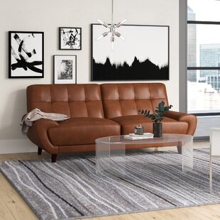 Price comparison Sterns Craft Leather Sofa by Brayden Studio Reviews (2019) & Buyer's Guide