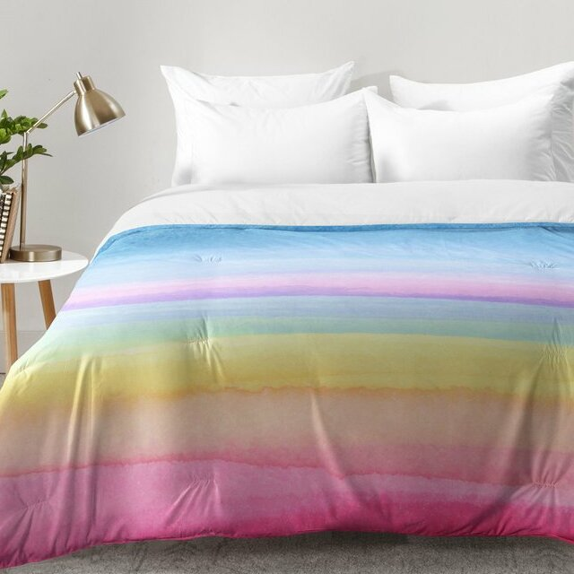 Finest East Urban Home Rainbow Ombre Comforter Set & Reviews | Wayfair QO56
