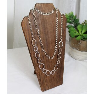 Great Price Wooden Display Bust Jewelry Stand ByGracie Oaks
