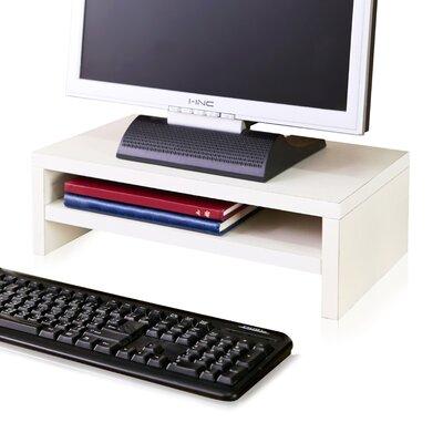 Ormonde 2 Shelf Computer Monitor Stand zBoard Laptop Riser Andover Mills Finish: Aspen White
