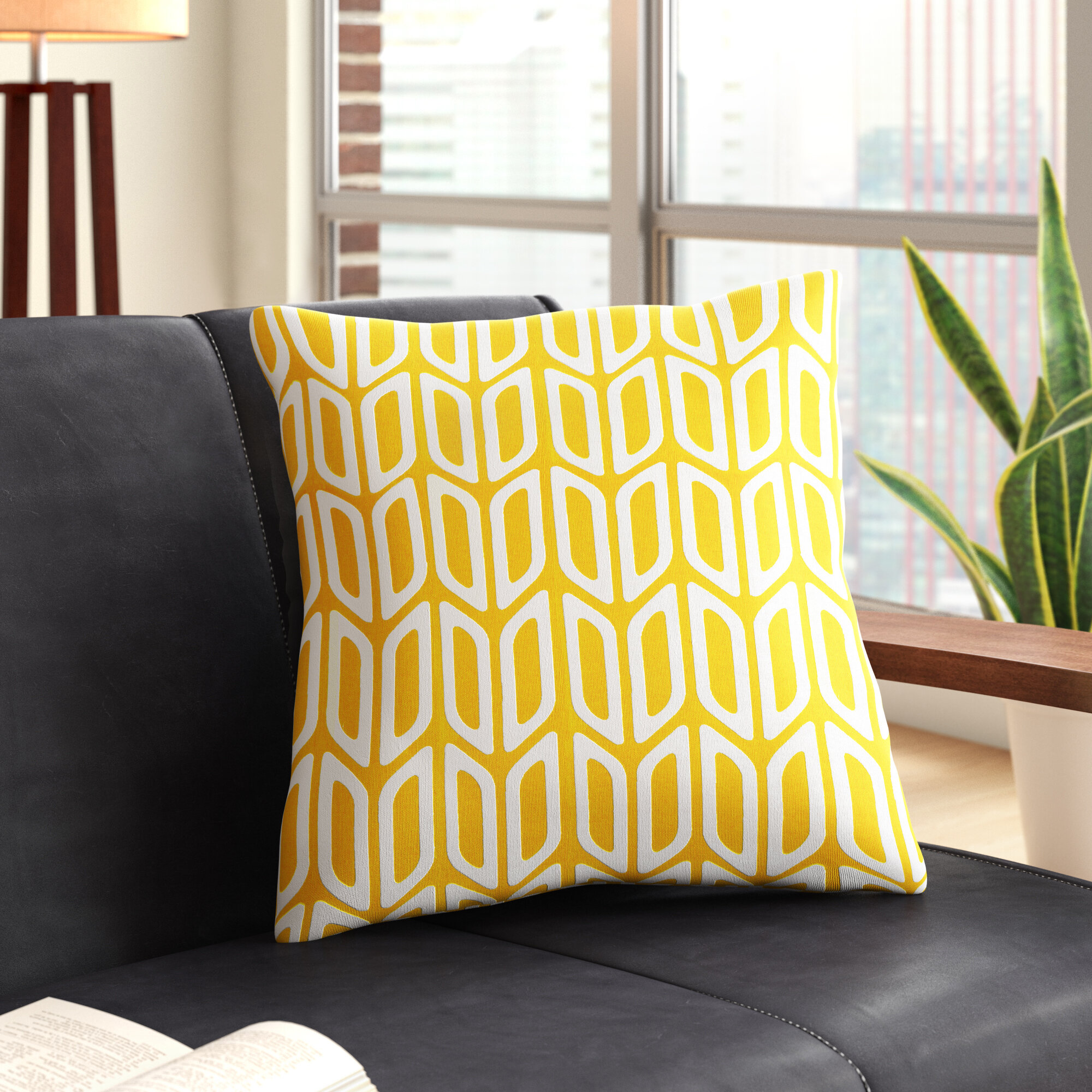 George Oliver Izabelle Geometric Cotton Throw Pillow Cover Reviews Wayfair
