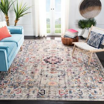 Mistana Hillsby Oriental Blue Orange Area Rug Reviews Wayfair
