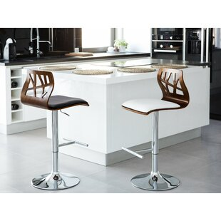 Arikara Adjustable Height Swivel Bar Stool by Orren Ellis