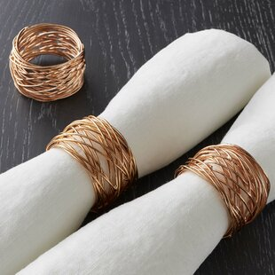 Round Wire Napkin Rings (Set of 4)