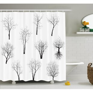 Vensey Spooky Horror Movie Themed Branches Forest Trees Nature Art Print Shower Curtain by Loon Peak