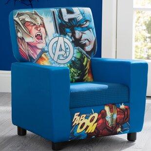 Read Reviews Marvel Avengers High Back Upholstered Kids Club Chair ByDelta Children