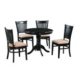 Montevia Elegant 5 Piece Rubber Solid Wood Dining Set by Andover Mills™