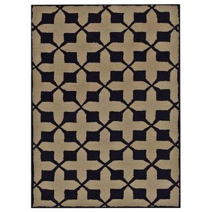 Best Choices Creager Hand-Tufted Wool Beige/Black Indoor/Outdoor Area Rug ByCharlton Home