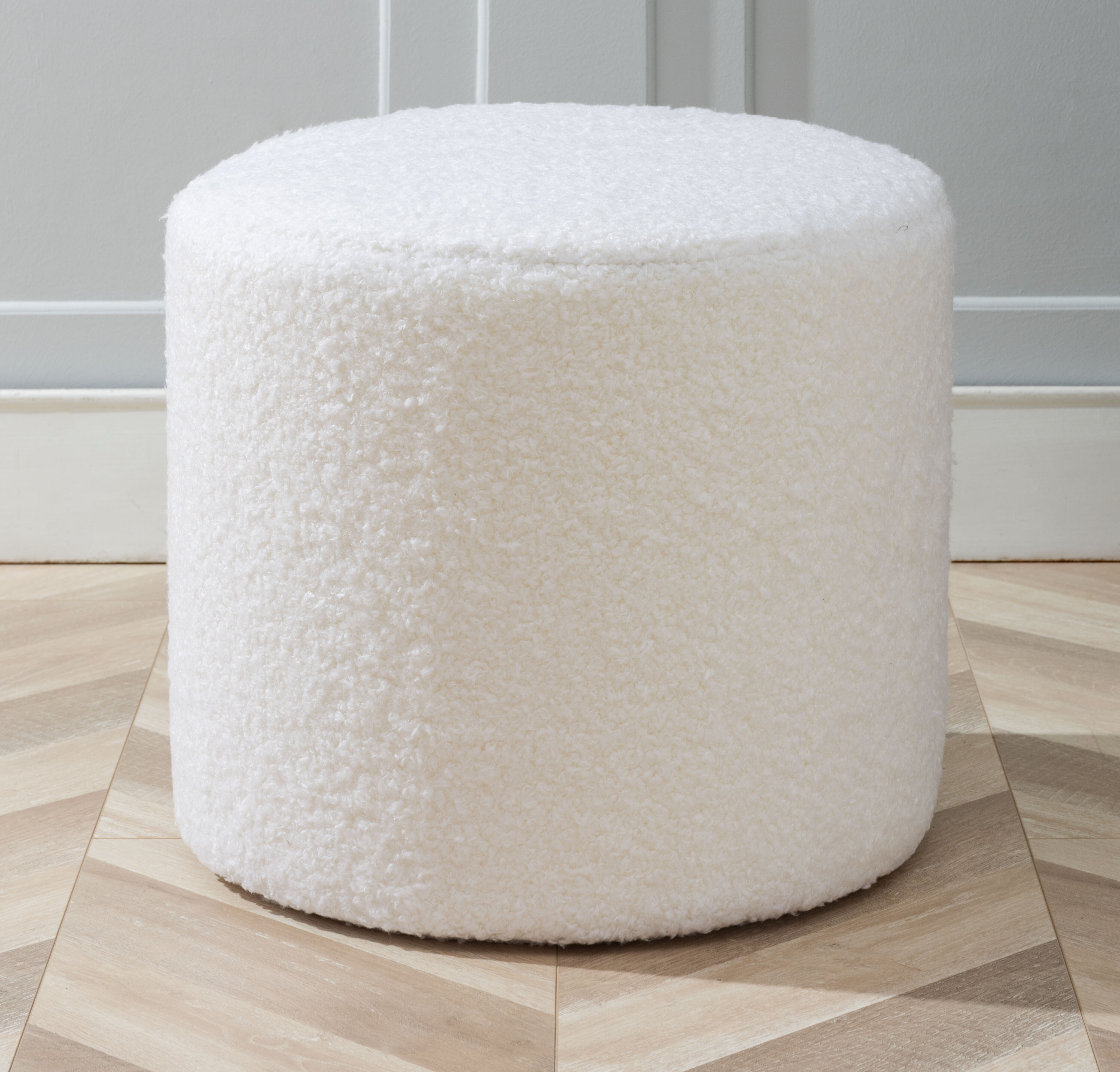 Picture of: Atharv 19 Round Pouf Ottoman Reviews Joss Main