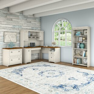 Oakridge 4 Piece Office Set with Hutch by Beachcrest Home
