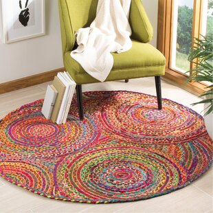 Bowen Hand-Woven Red/Yellow/Puple Area Rug by World Menagerie