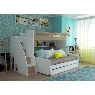 Brayden Studio Gautreau Twin L-Shaped Bunk Beds With Trundle