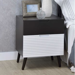 Top Reviews Seely 2 Drawer Nightstand by Ivy Bronx
