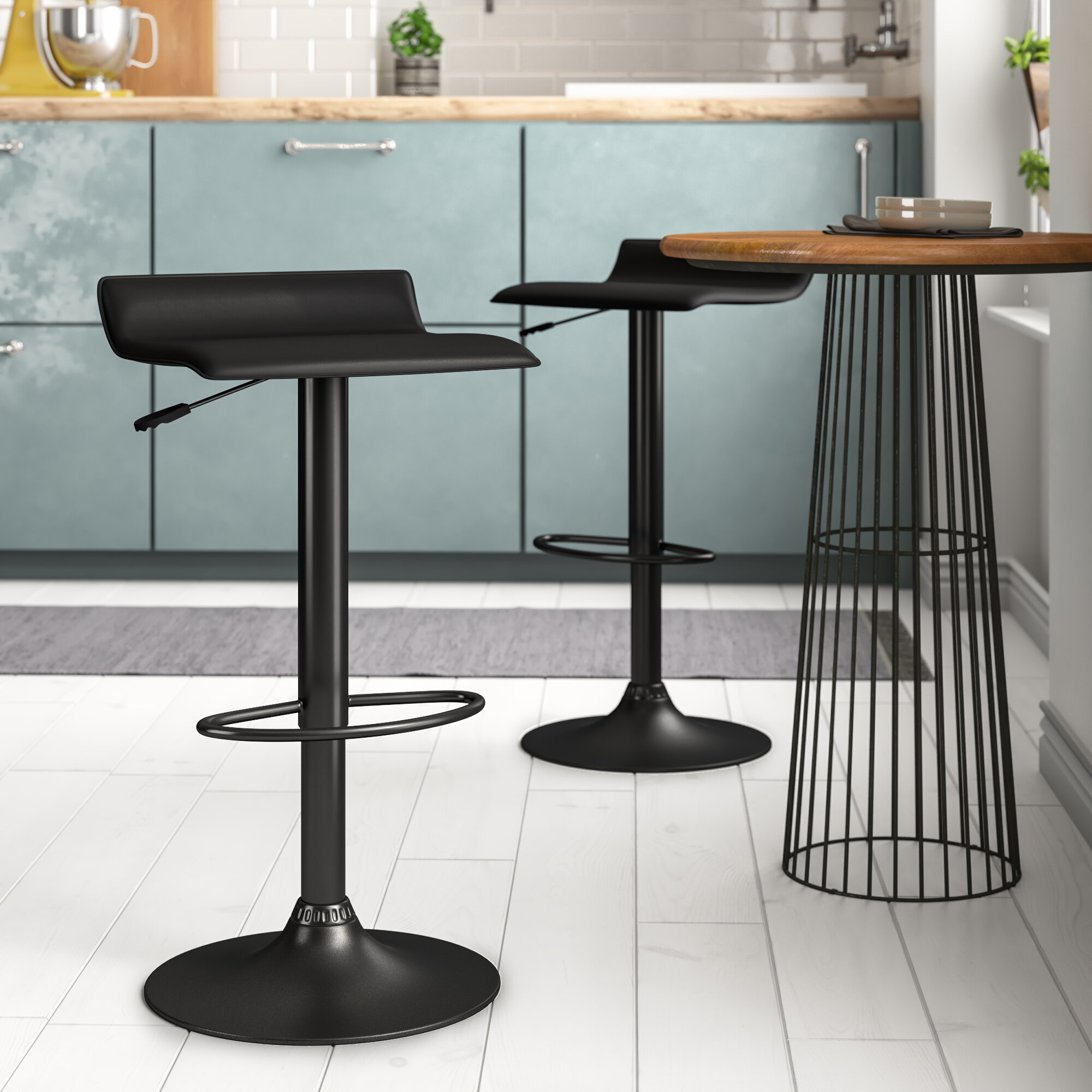 Magnificent Industrial Pedestal Bar Stools Youll Love In 2019 Wayfair Alphanode Cool Chair Designs And Ideas Alphanodeonline
