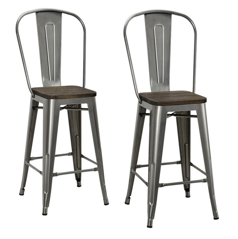 Deerfield 24  Bar Stool (Set ...  sc 1 st  Joss u0026 Main : 24 inch bar stools with back - islam-shia.org