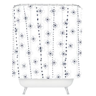 Ali Benyon Flower Waterfall Single Shower Curtain