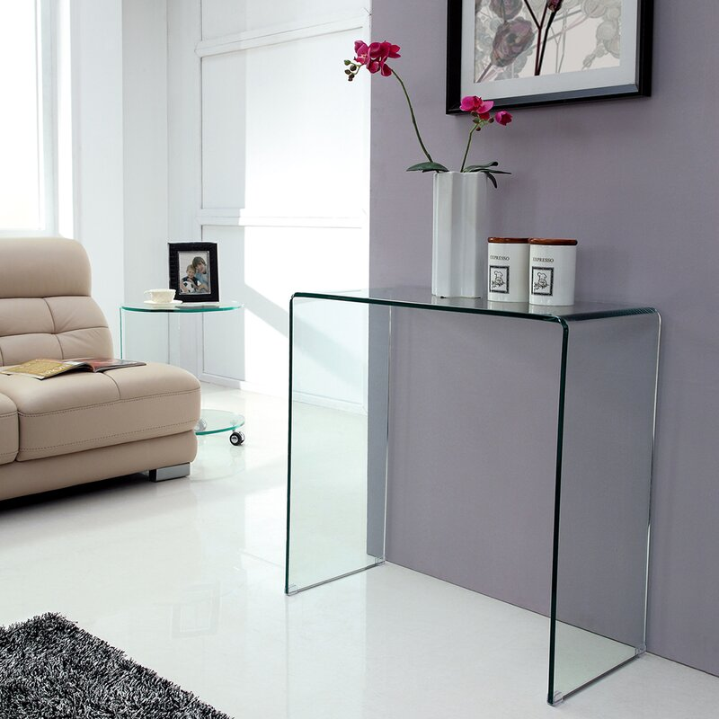 Bent Gl Console Table