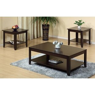 Haenggi Stylish Wooden 3 Piece Coffee Table Set