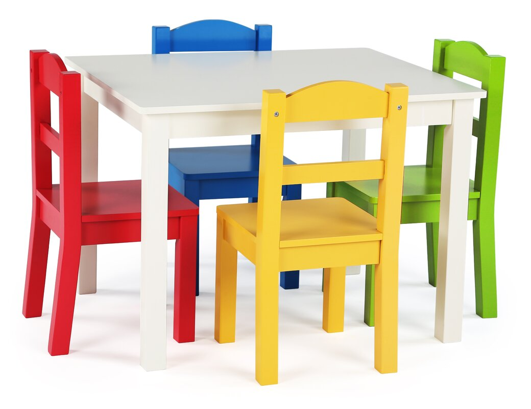 samira kids'  piece rectangular table and chair set. tot tutors samira kids'  piece rectangular table and chair set