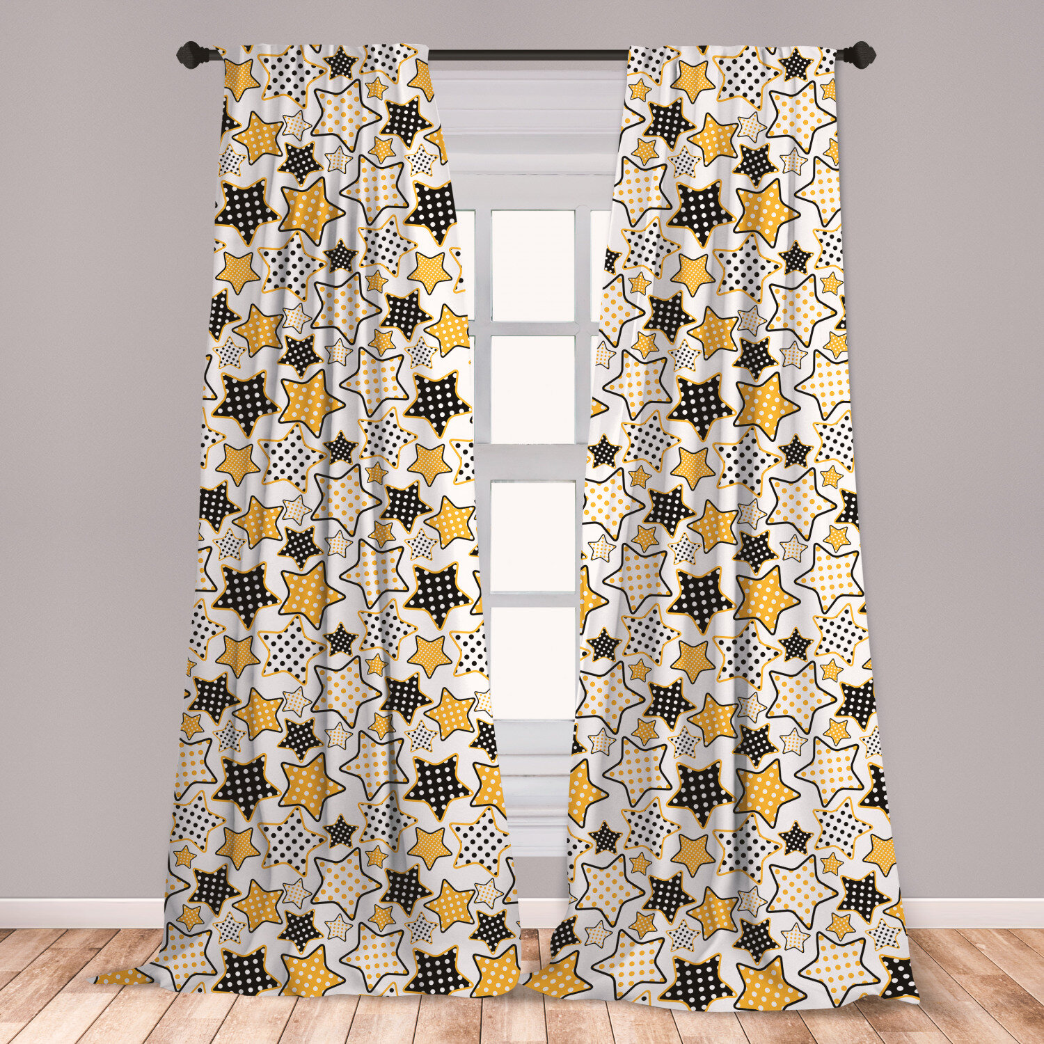 Ambesonne Yellow Curtains