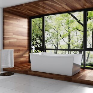 Eleanor 63 x 31 Freestanding Soaking Bathtub by Ove Decors