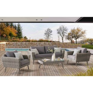 Kona Grove 4 Piece Sofa Set with Cushions