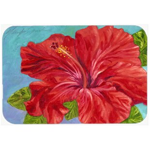 Red Hibiscus Glass Cutting Board