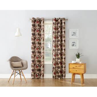 Mercury Row Antunez Geometric Semi Sheer Grommet Single Curtain Panel Reviews Wayfair