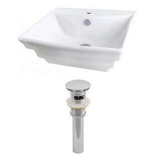 Check Prices Ceramic 20 Wall Mount Bathroom Sink with Overflow By Royal Purple Bath Kitchen
