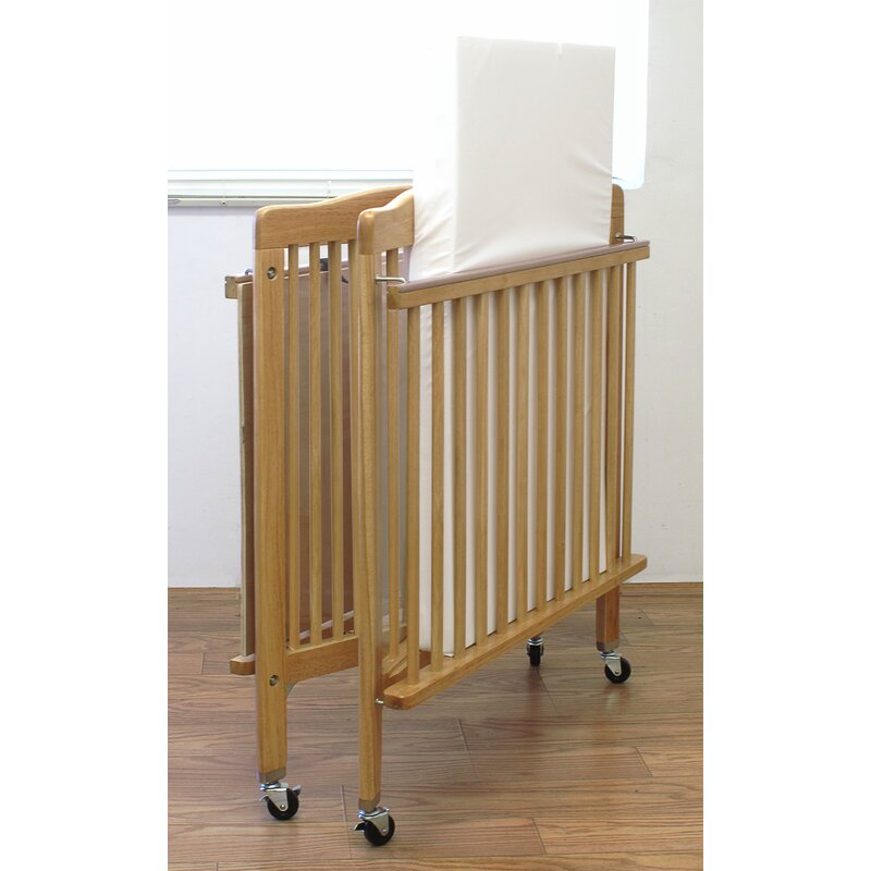 L.A. Baby Baby Crib with Mattress & Reviews | Wayfair