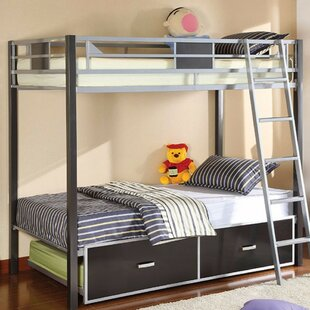 Order Hannover Twin over Twin Bunk Bed with Trundle and Drawers ByZoomie Kids