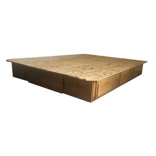 Baltimore Organic Premium Solid White Pine Drawer Pedestal Bed Frame by Strobel Mattress