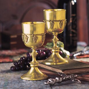 8 oz. Brass Goblet (Set of 2)