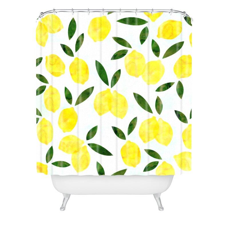 Hello Sayang Lemon Drops Shower Curtain