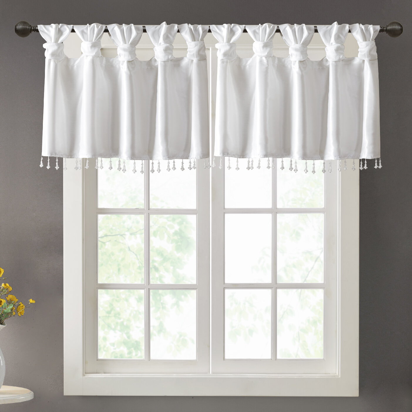 Peachy Farmhouse Rustic Valances Birch Lane Download Free Architecture Designs Estepponolmadebymaigaardcom