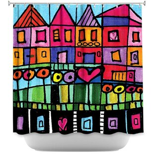 Happy Town Single Shower Curtain