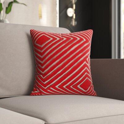 Mercury Row Keese Cotton Pillow Cover Size: 22 H x 22 W x 1 D, Color: Brown/Orange