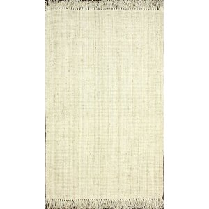 Elana Hand-Woven Bleached Ivory Area Rug