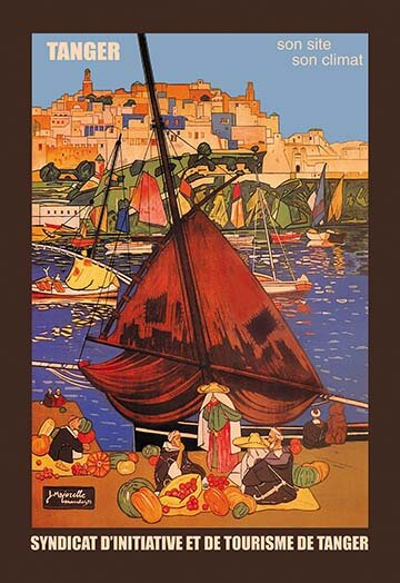 Buyenlarge Tangier Son Site Son Climat By Jacques Majorelle Framed Vintage Advertisement Wayfair
