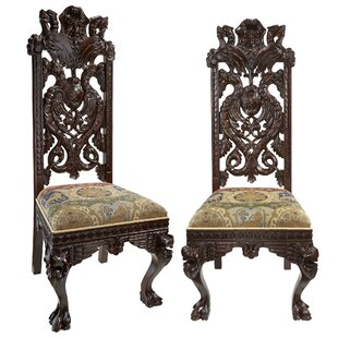 Knottingley Manor Upholstered Dining Chair (Set of 2) Design Toscano