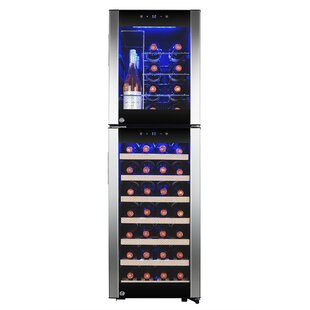 44 Bottle Touch Panel Dual Zone Freestanding Wine Cooler