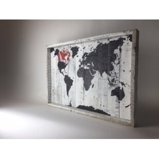 World map wall art world map canada framed graphic art print on wood gumiabroncs Gallery