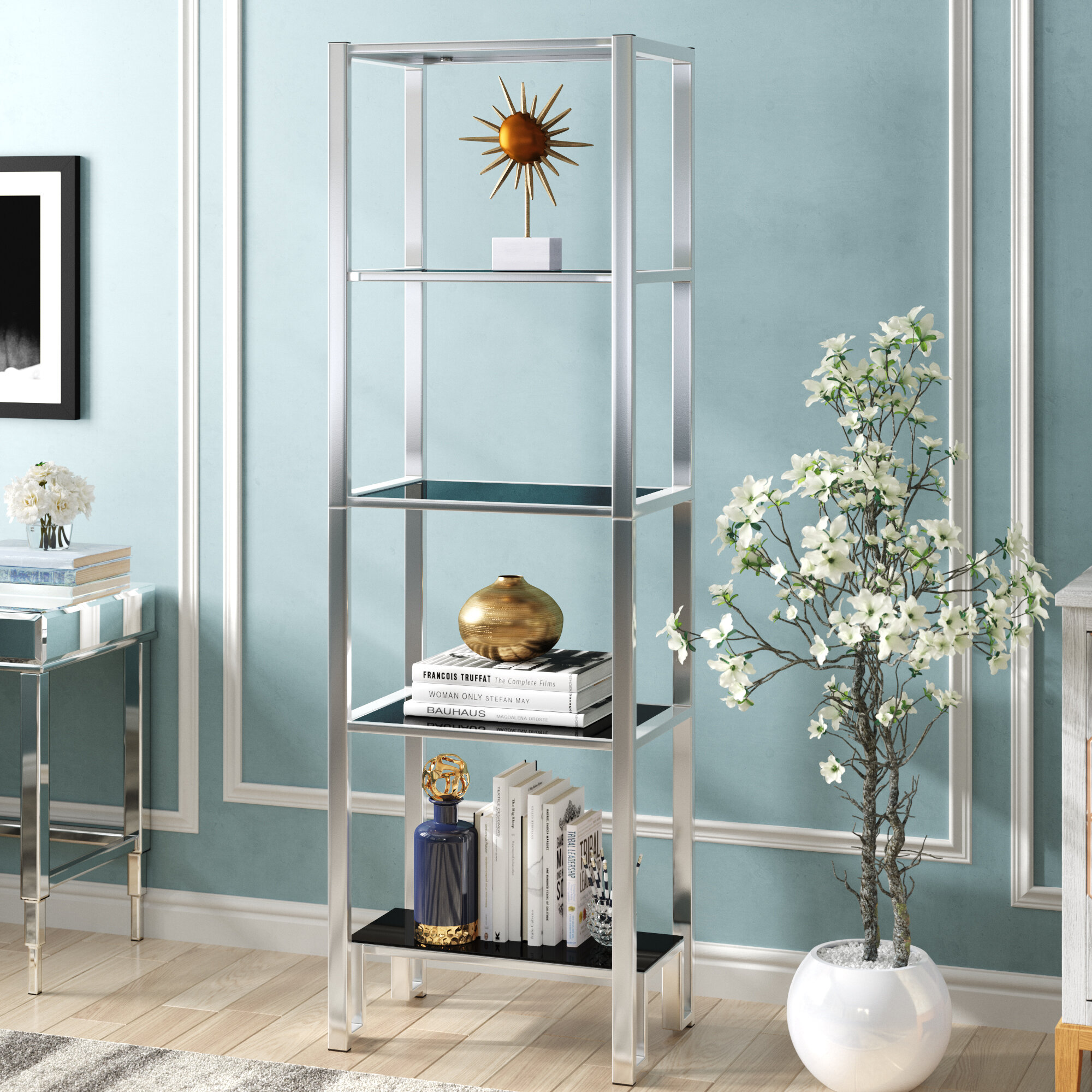 Willa Arlo Interiors Olander Etagere Bookcase & Reviews | Wayfair