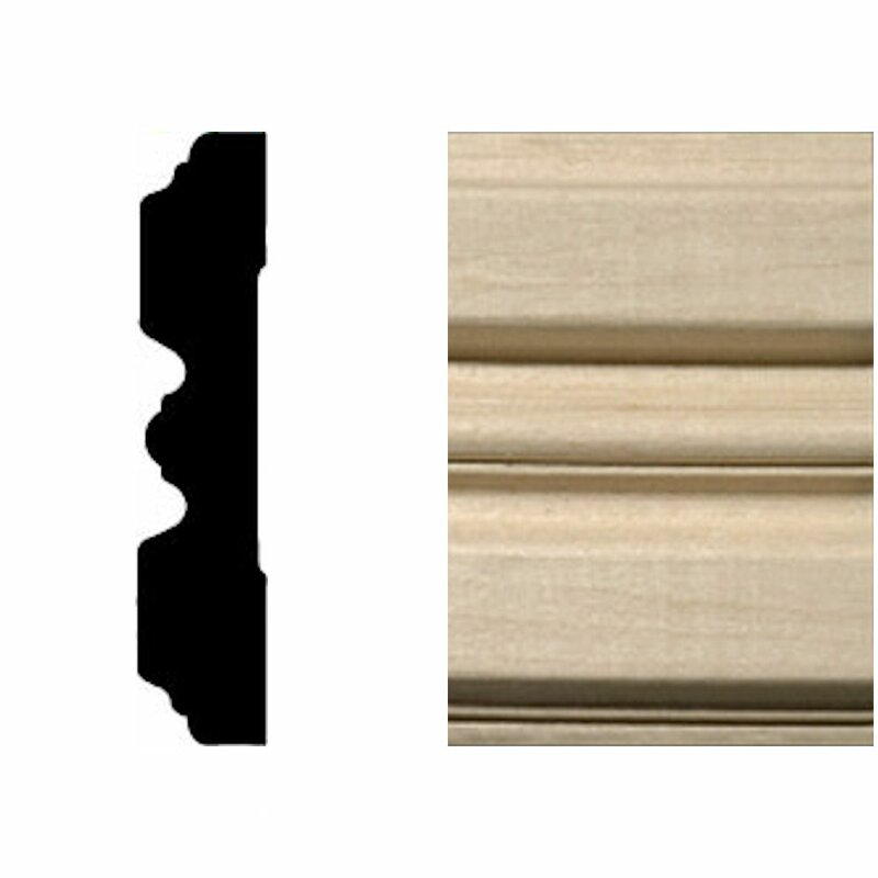 Manor House 3 4 In X 3 1 4 In X 7 Ft Hardwood Fluted Casing Chair Rail Moulding Wayfair