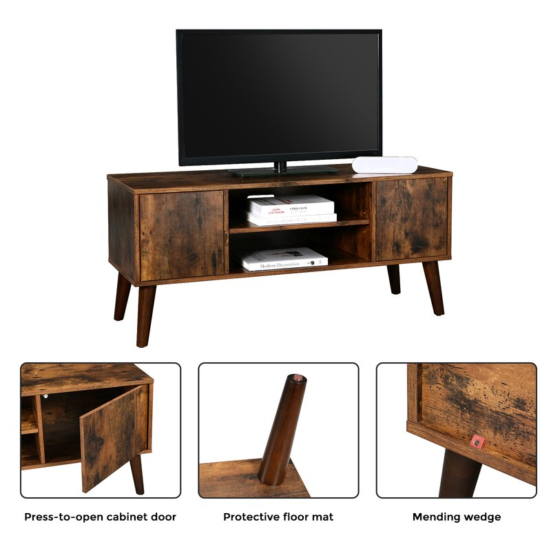 Foundry Select Retro Tv Stand Tv Console Mid Century Modern Entertainment Centre For Flat Screen Tv Cable Box Gaming Consoles In Living Room Entertainment Room Office 9f5f36c0fbad4e1a8d9f8db8474a5492 Reviews Wayfair Ca