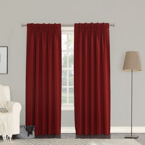 groton solid semisheer pinch pleat curtain panels set of 2