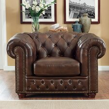 Walsh Leather Club Chair by 17 Stories