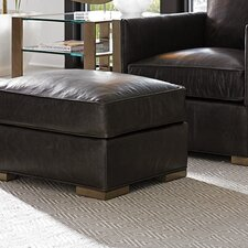 Shadow Play Delshire LeatherOttoman by Lexington